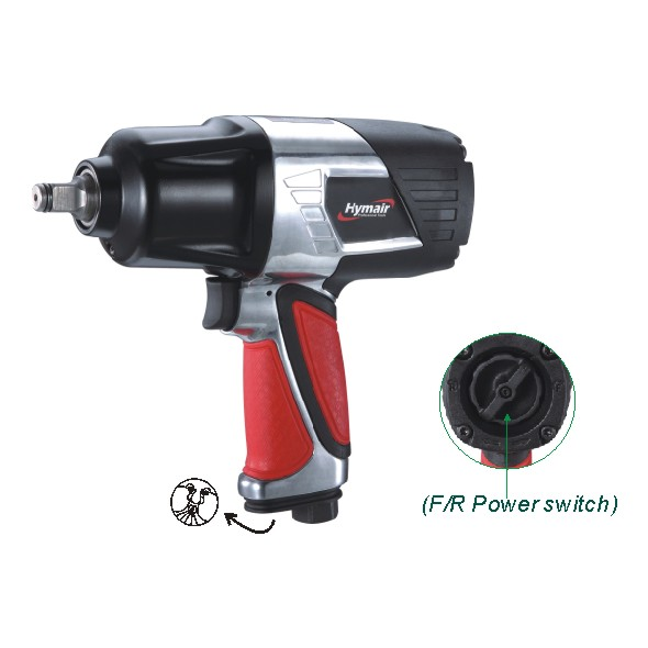 1/2'' Heavy Duty Air Impact Wrench (Twin Hammer) (NST-5040M)